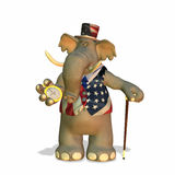 Political Elephant. Can be used to represent the Republican Party (GOP vector illustration