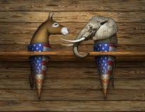 Political Elephant and Donkey Ice Cream Cones Royalty Free Stock Image