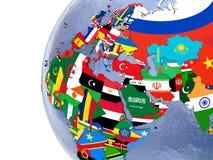 Political EMEA map Royalty Free Stock Photography