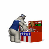 Political Fair - Whack-a-Donkey Royalty Free Stock Photo