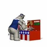 Political Fair - Whack-a-Donkey. Fair game.  Whack-a-Donkey Royalty Free Stock Photo