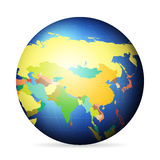 Political globe Asia Stock Photo
