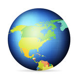 Political globe North America Royalty Free Stock Image