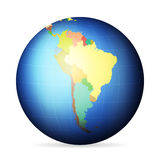 Political globe South America Royalty Free Stock Images