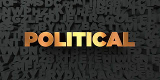 Political - Gold text on black background - 3D rendered royalty free stock picture Royalty Free Stock Photography