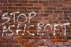 Political Graffiti royalty free stock photos