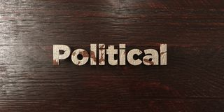 Political - grungy wooden headline on Maple  - 3D rendered royalty free stock image Royalty Free Stock Photo