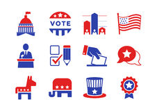 Political icons set Stock Photography