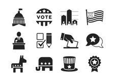 Political icons set Stock Photo