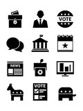 Political Icons Set. A set of politics based icons Royalty Free Stock Photos
