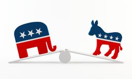 Political imbalance Stock Images