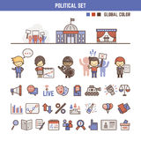 Political infographic elements for kids Royalty Free Stock Image