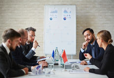 Political interaction stock photo