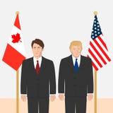 Political leaders theme stock illustration