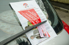 Political leaflets, Venice Stock Images