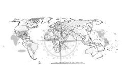Map political abstract of the world. Political map abstract of the world background vector illustration