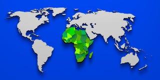 Political map of Africa 3D Stock Photos
