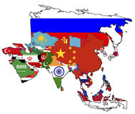 Political map of asia Stock Photography