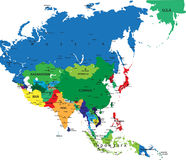 Political map of Asia Royalty Free Stock Images