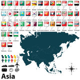 Political map of Asia Royalty Free Stock Photography