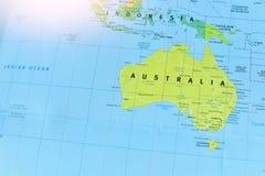 Political Map of Australia royalty free stock photos