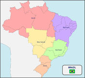 Brazil Political Map Stock Vector Image - Brazil political map