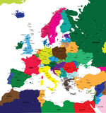 Political map of Europe Royalty Free Stock Image