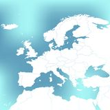 Political Map Of Europe. Abstract blurred background Illustration. Political Map Of Europe. Abstract blurred background Illustration Stock Image