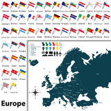 Political map of Europe Stock Photo