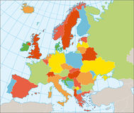 Free Political Map Of Europe Royalty Free Stock Photo - 11248125