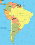 Political map of South America Royalty Free Stock Photo