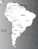 Political map of South America Royalty Free Stock Image