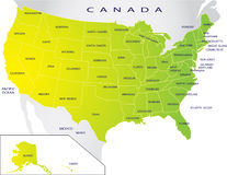 Political map of USA Stock Image