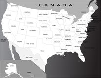 Political map of USA Stock Images