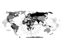 Political map of the world  background  Vector abstract Royalty Free Stock Image