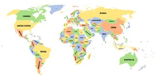 Political map of World Stock Image