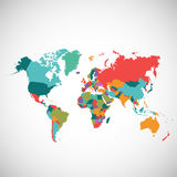 Political map of the world Royalty Free Stock Photos