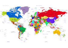 Political map of the World Stock Photo