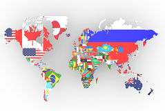 Political map of world Royalty Free Stock Photo