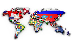 Political map of world Stock Photography