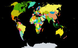 Political Map of the World. Stock Photography