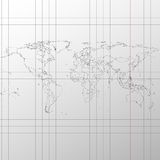 Political map of the world on exercise book vector.  Royalty Free Stock Photos