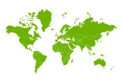 Political map of the world. Royalty Free Stock Photos