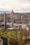 The Political Martyrs' Monument and St Giles' Cathedral from the Calton Hill Royalty Free Stock Photos