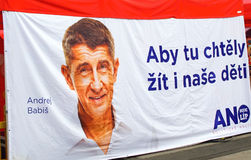 Political movements YES Czech Republic Stock Photos