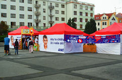 Political movements YES Czech Republic Stock Photo