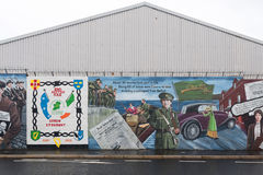 Political murals in Belfast, Northern Ireland Royalty Free Stock Images