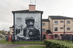 Political murals in the Bogside, Derry, Northern Ireland Royalty Free Stock Photo