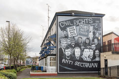 Political murals in the Bogside, Derry, Northern Ireland Royalty Free Stock Photos