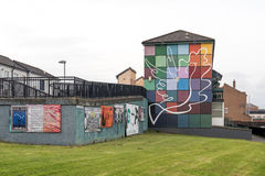 Political murals in the Bogside, Derry, Northern Ireland Stock Photography
